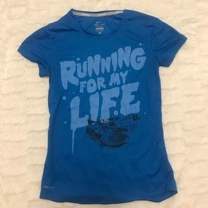 NIKE Dri Fit Running For My Life Short Sleeve Tee